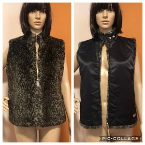 Guess Reversible Faux Fur Winter Vest